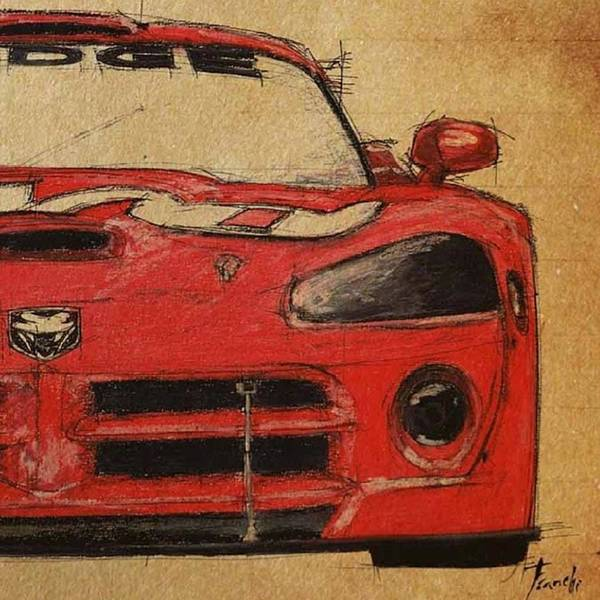 Wall Art - Photograph - Dodge Viper Detalle #dodge #viper by Drawspots Illustrations