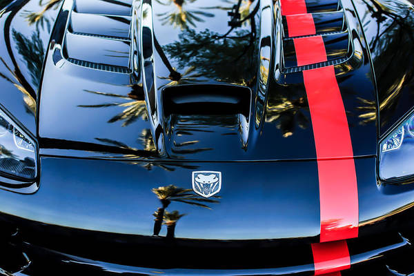 Photograph - Dodge Viper Hood -0389c by Jill Reger