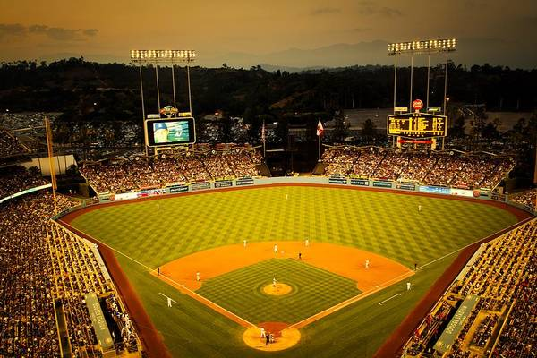 Wall Art - Photograph - Dodger Stadium At Dusk by Mountain Dreams