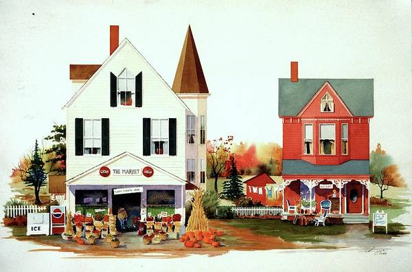 Painting - Dodges's Market by William Renzulli