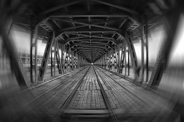 Blackandwhite Photograph - Dodging Trams In Warsaw Poland by Carol Japp