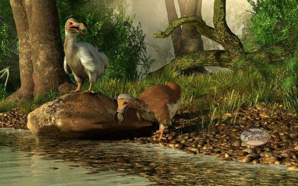 Digital Art - Dodos On The Riviere Tamarin by Daniel Eskridge