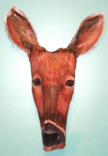 Bambi Mixed Media - Doe A Deer by Ellen Burns