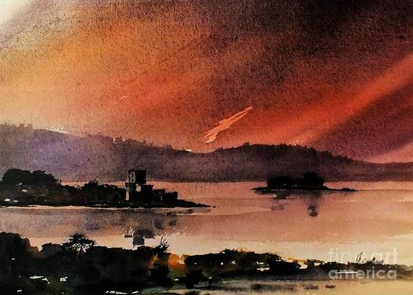Painting - Doe Castle  Donegal by Val Byrne