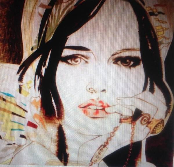 She Mixed Media - Does She Love Me C2018 by John Weaver