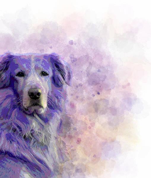 Golden Retriever Mixed Media - Dog 140 by Lucie Dumas