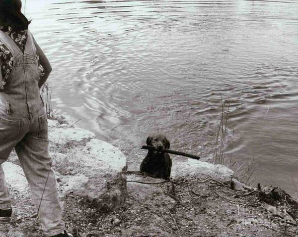 Fetch Photograph - Dog And Child by Chuck Taylor