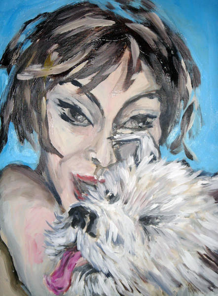 Transformer Painting - Dog And Diva by Jenni Walford