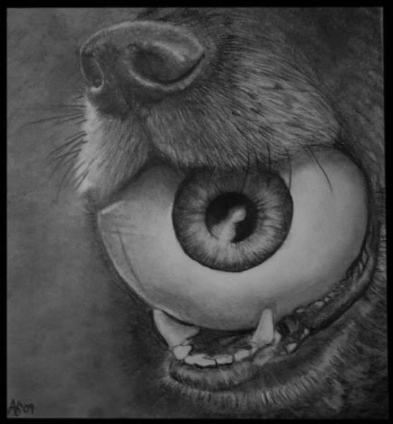 Wall Art - Drawing - Dog And Eye Ball by Alycia Ryan