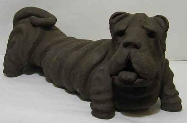 Fired Clay Wall Art - Sculpture - Dog by Andre Ferron