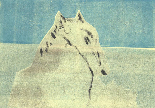 Relief - Dog At The Beach 14 by Artist Dot