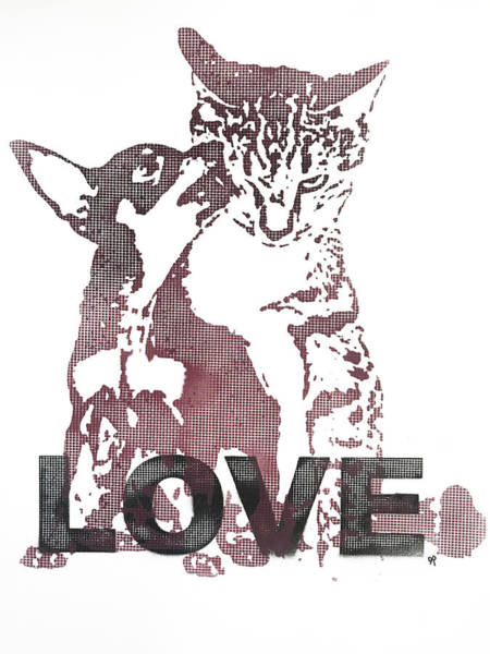 Painting - Dog Cat Love by Dean Russo Art