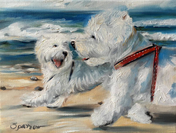 Wall Art - Painting - Dog Days Of Summer by Mary Sparrow