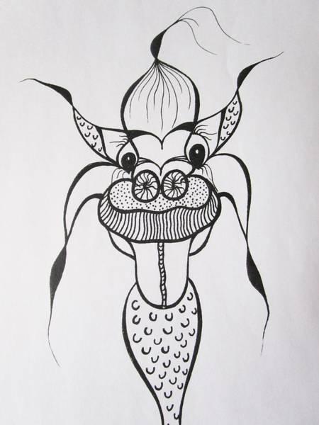 Drawing - Dog Face by Rosita Larsson