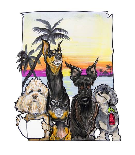 Tropical Drawing - Dog Island Getaway by John LaFree