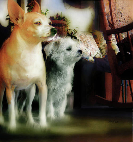 Digital Art - The Real Chiqui And Heichel by Miss Pet Sitter
