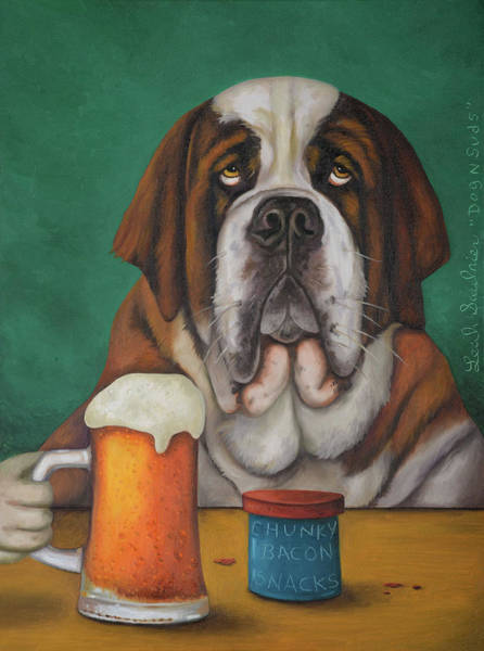Painting - Dog N Suds 2 by Leah Saulnier The Painting Maniac