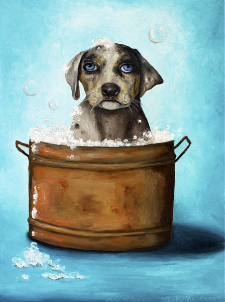 Painting - Dog N Suds by Leah Saulnier The Painting Maniac