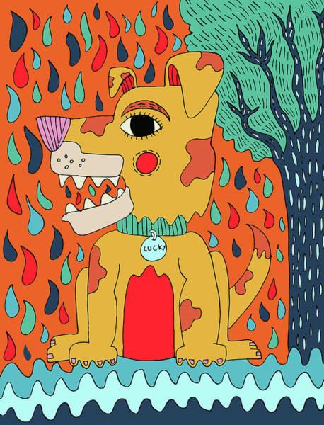 Dope Mixed Media - Dog by Nicole Wilson
