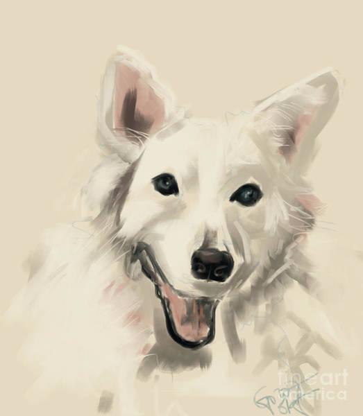 Painting - Dog Olaf by Go Van Kampen