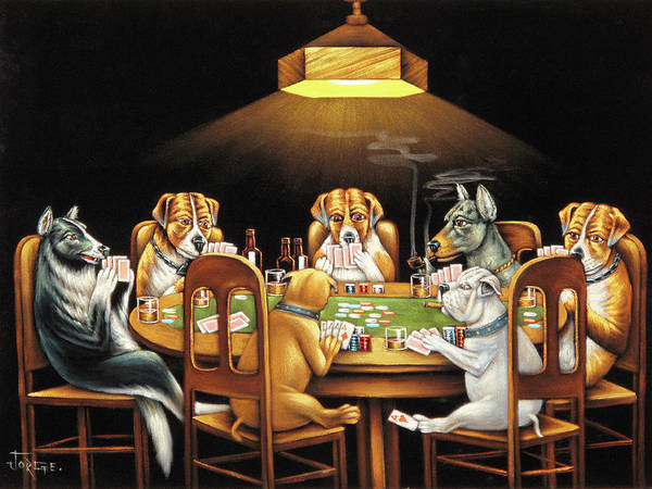 Coolidge Painting - Dog Poker After Original By Coolidge  by Jorge Terrones
