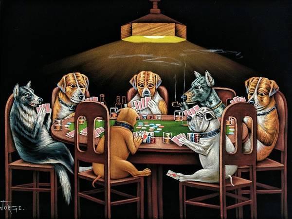 Coolidge Painting - Dog Poker by Jorge Terrones