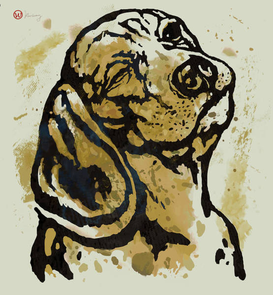 Wall Art - Mixed Media -  Dog Pop Art Poster by Kim Wang