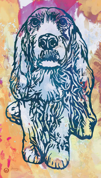 Wall Art - Drawing - Dog Pop Etching Art Poster by Kim Wang