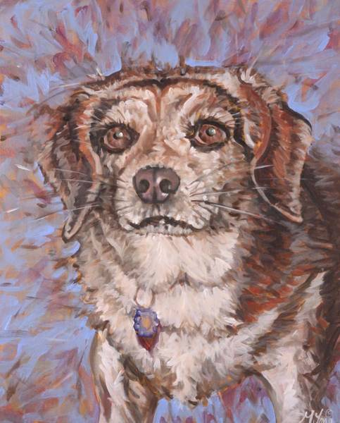 Painting - Dog Portrait by Gary M Long