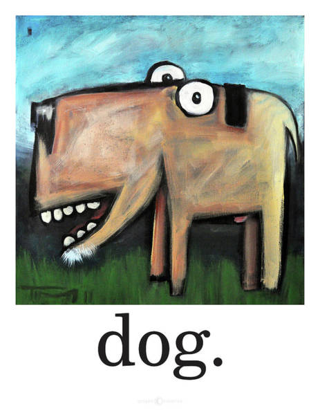 Painting - Dog Poster by Tim Nyberg