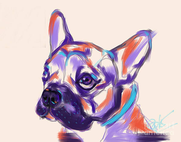 Painting - Dog Reggie by Go Van Kampen