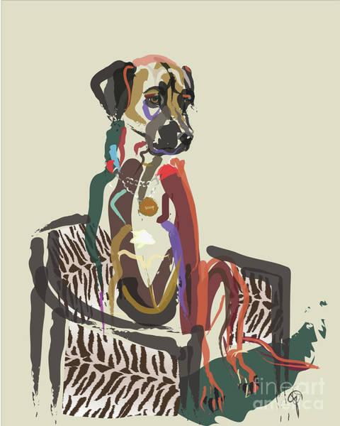 Painting - Dog Scoop by Go Van Kampen