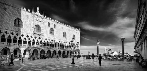 Photograph - Doge's Palace Evening Time - Venice by Barry O Carroll