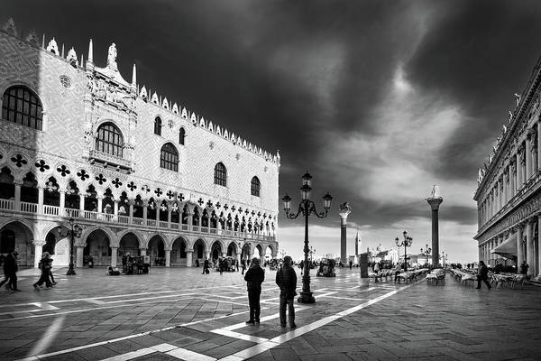 Photograph - Doge's Palace On St Mark's Square - Venice by Barry O Carroll