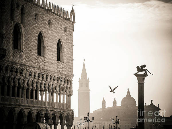 Lion Of St Mark Photograph - Doge's Palace S At Piazza San Marco In Venice, Italy by Bernard Jaubert