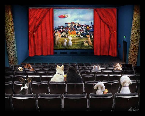 Photograph - Doggie Cinema by Diana Haronis