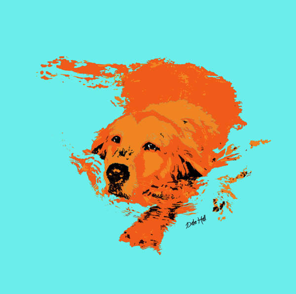 Golden Retriever Digital Art - Doggy Paddle by Dale Hall