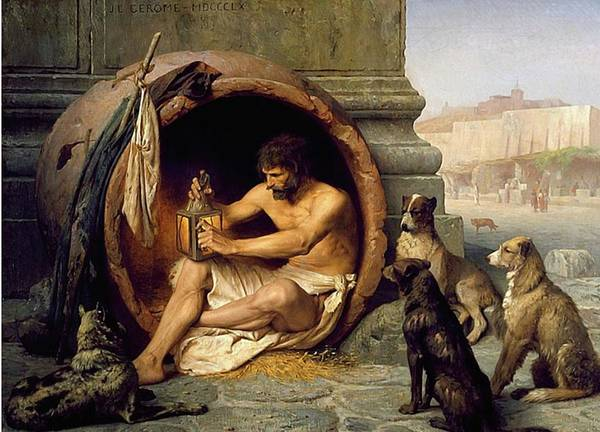 Husky Mixed Media - Dogs - Diogenes - Mans Best Friend by Jean Leon Gerome 1859