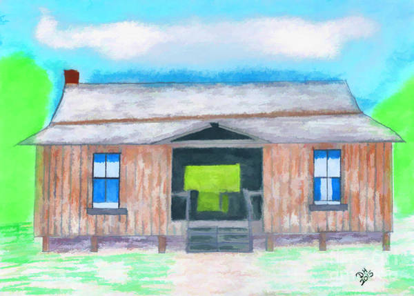 Drawing - Dogtrot Cracker Home Drawing by D Hackett