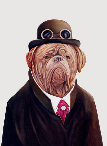 Animals In Clothes Wall Art - Painting - Dogue De Bordeaux by Animal Crew