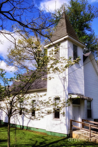 Photograph - Dogwood And Church by Thomas R Fletcher
