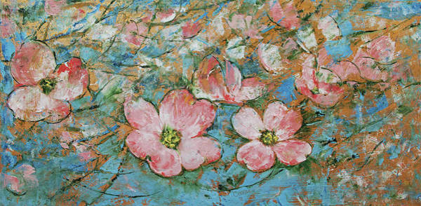 Dogwood Painting - Dogwood Flowers by Michael Creese