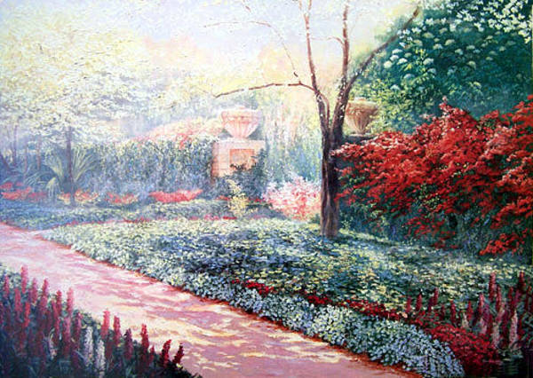 Wall Art - Painting - Dogwood Garden by Douglas Grier