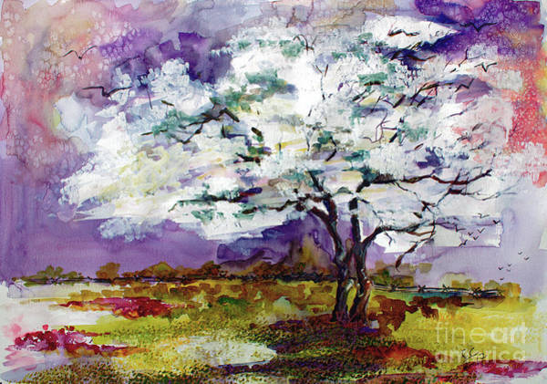 Painting - Dogwood Tree Spring Landscape by Ginette Callaway