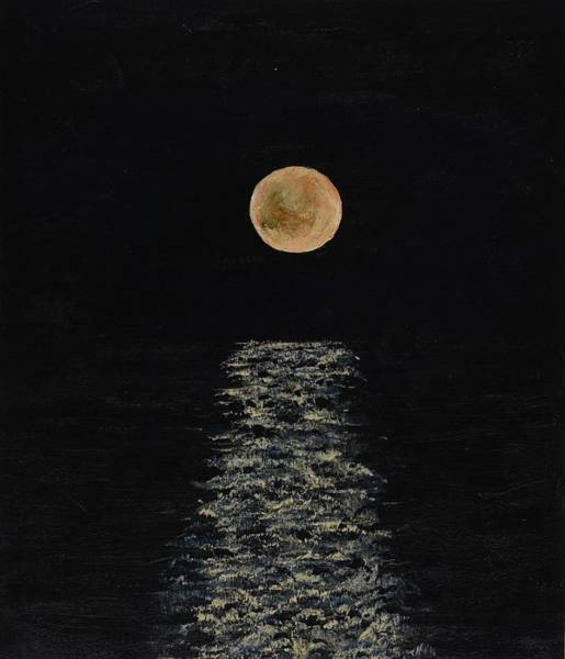 Doha Moonrise Art Print