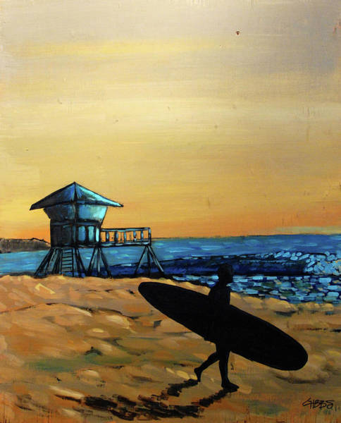 Painting - Doheny Surfer At Sunset by Nathan Paul Gibbs