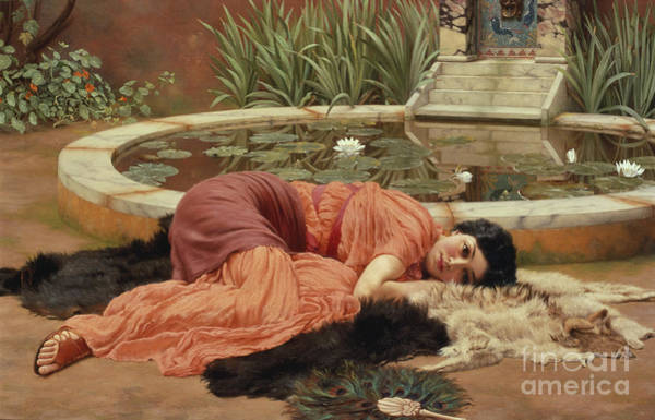 Victorian Garden Wall Art - Painting - Dolce Far Niente by John William Godward