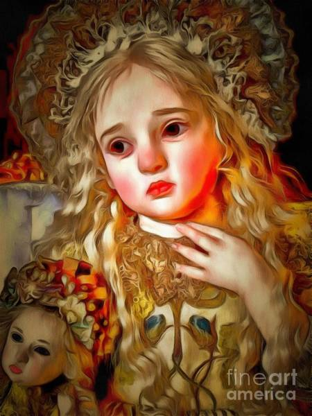 Painting - Doll Collectible Demure In Ambiance by Catherine Lott