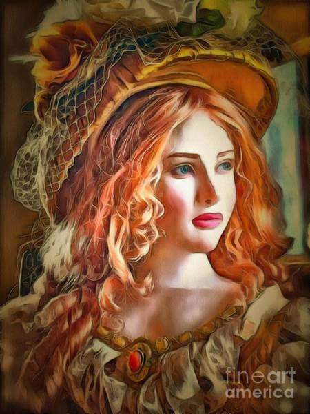 Painting - Doll Collectible Glance In Ambiance by Catherine Lott