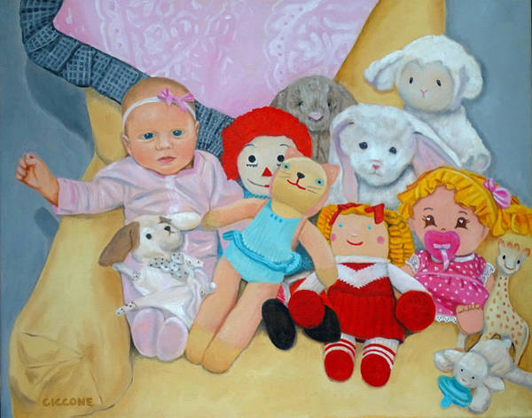 Painting - Doll Collection by Jill Ciccone Pike